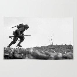 Battle Of Okinawa Painting Rug