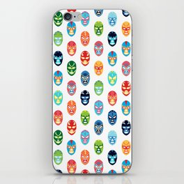 Lucha libre mask pattern iPhone Skin