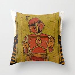 Boba in carbonite Throw Pillow