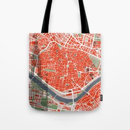 Seville city map classic Tote Bag