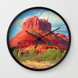 Big Bell Rock Sedona by Amanda Martinson Wall Clock