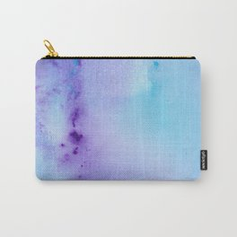 Philip Bowman Abstract Watercolor Art Blue And Purple Modern Painting Carry-All Pouch