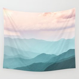 Smoky Mountain National Park Sunset Layers II - Nature Photography Wall Tapestry