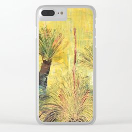 Rustic Grass Tree Clear iPhone Case