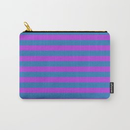 Blue and Purple Stripes Carry-All Pouch
