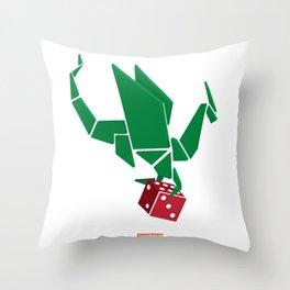 Dragon Dice Throw Pillow