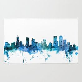 Denver Colorado Skyline Rug