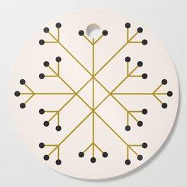 Mod Snowflake Olive Cutting Board