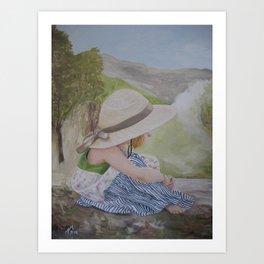 Bonnet Girl Art Print