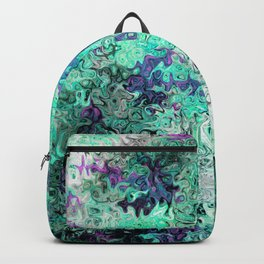 So Undecided, Abstract Art Swirls Pattern Backpack