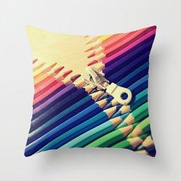 Crayon Zip Throw Pillow