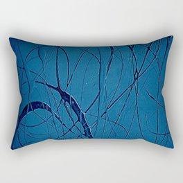 Navy Blue - Jackson Pollock Style - Modern Art Rectangular Pillow