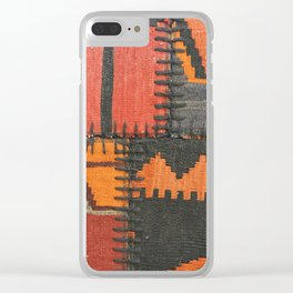 Caucasian Patchwork Clear iPhone Case