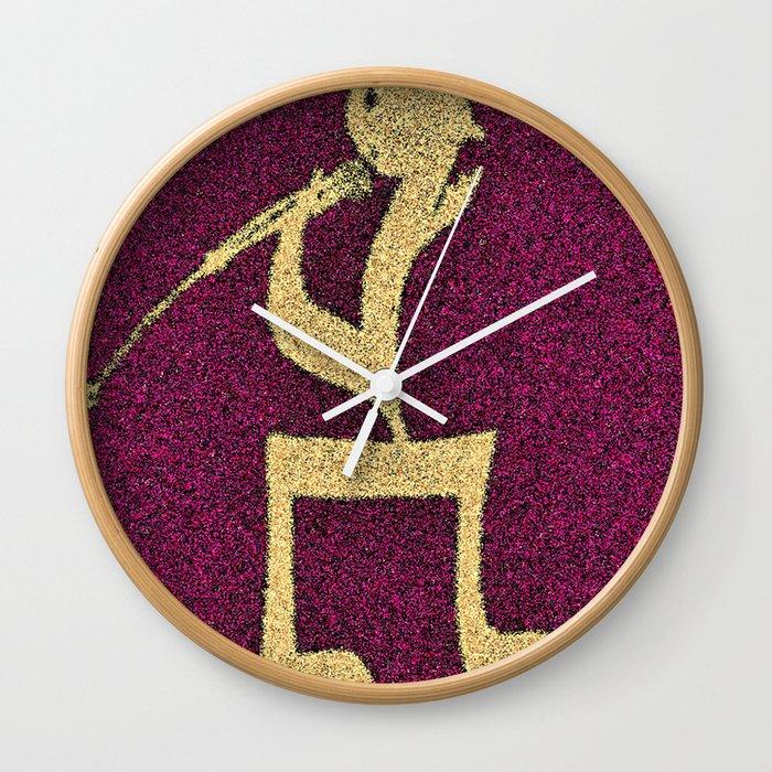 A singer on my doormat Wall Clock