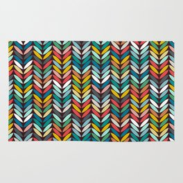 llama leaf arrow chevron dark Rug
