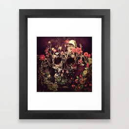 Bloom Skull Framed Art Print