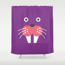 Purple Walrus Shower Curtain