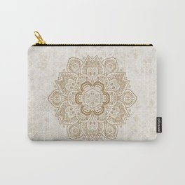 Mandala Temptation in Cream Carry-All Pouch