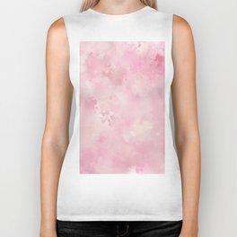 Pink rose fuscia batic look Biker Tank