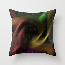 abstract colourart Throw Pillow