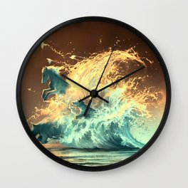 Mana tide Wall Clock