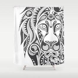 Lion | Abstract Digital Design Shower Curtain