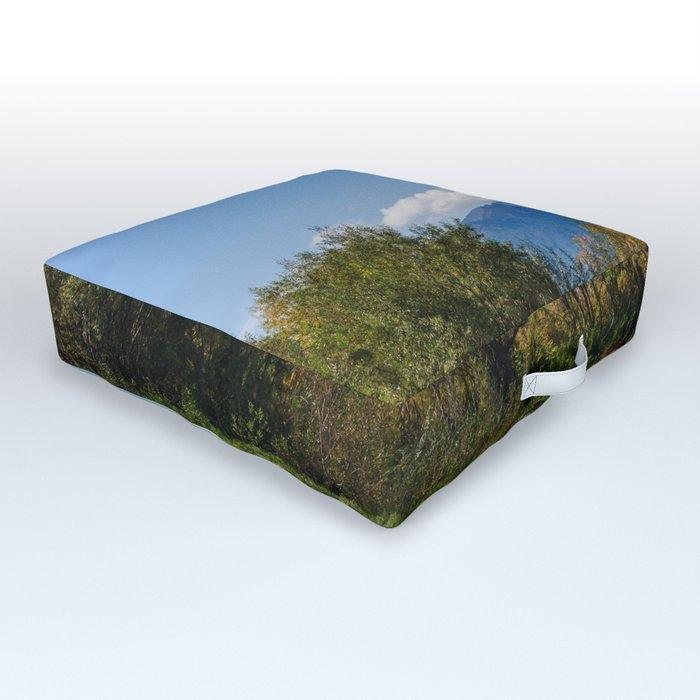 Autumn in Kamchatka Outdoor Floor Cushion