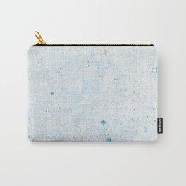 Blue Splatter Paint (Color) Carry-All Pouch