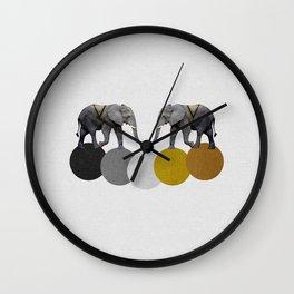 Tribal Elephants Wall Clock