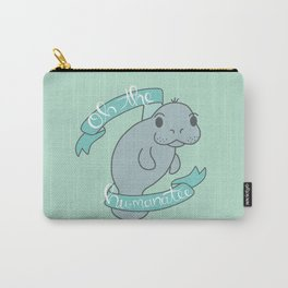 Oh The Hu-manatee - Seafoam Carry-All Pouch