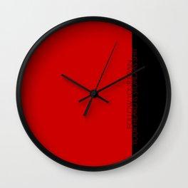 follow your brain Wall Clock