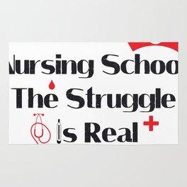 Nursing School Struggle Is Real Nurse Gifts Rug