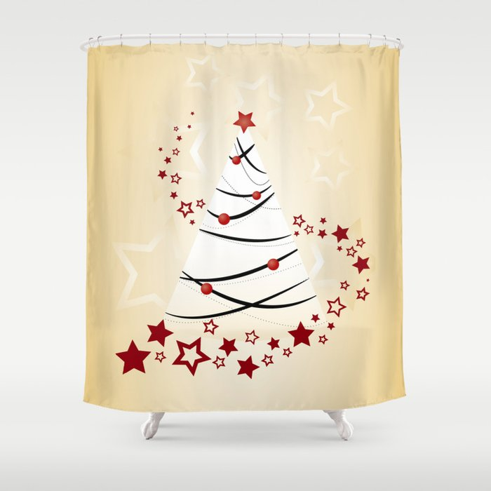 [NEW] Stunning Christmas Shower Curtains cover image