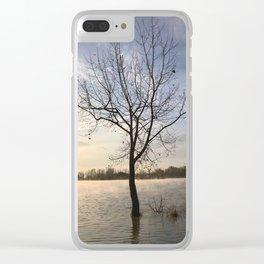 Sunrise Solitude Clear iPhone Case
