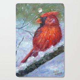 Winter Cardinal Cutting Board