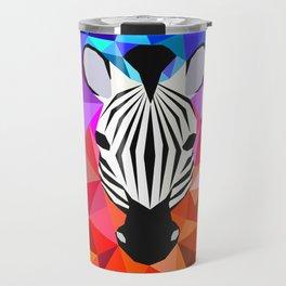 Zebra Dazzle Travel Mug