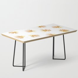 Golden Palm Leaf Coffee Table