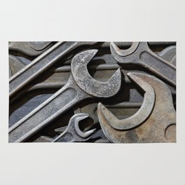 Group of old wrenches Rug