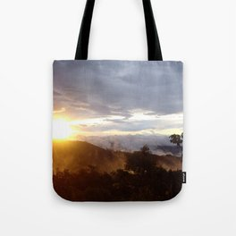 Sunset over the jungle in Costa RIca Tote Bag