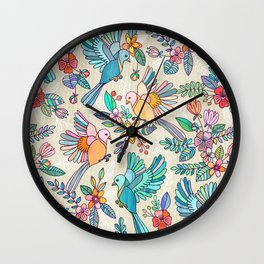 Whimsical Summer Flight Wall Clock