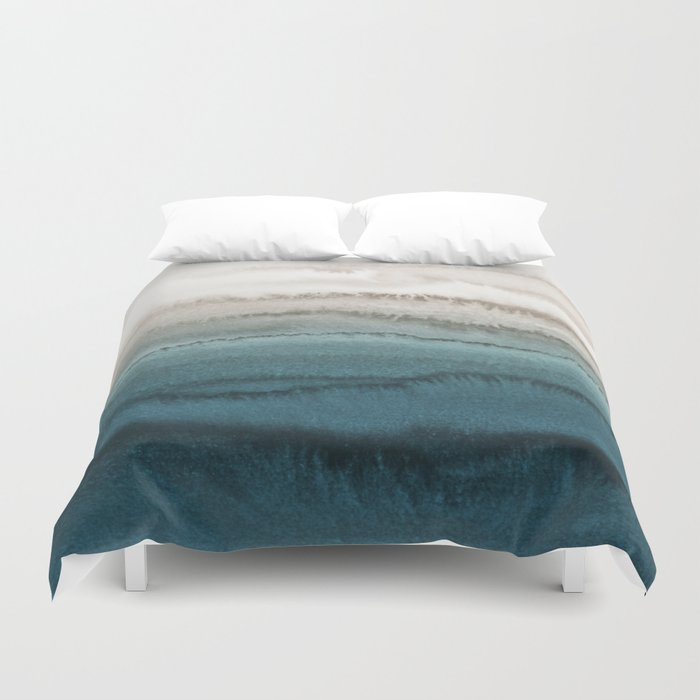 WITHIN THE TIDES - CRASHING WAVES TEAL Duvet Cover