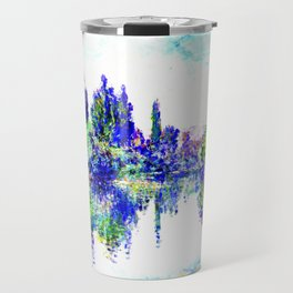 Claude Monet - Morning on the Seine, near Vetheuil 1878 Travel Mug