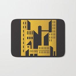 Golden city art deco Bath Mat