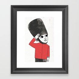 Little Soldier Framed Art Print