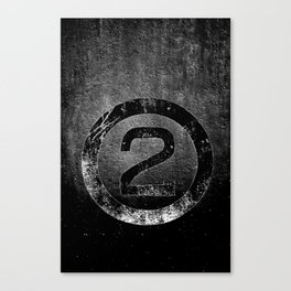 Bold Black and White 2 Canvas Print