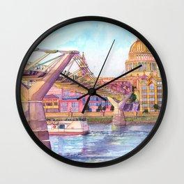 London Millenium Footbridge Wall Clock