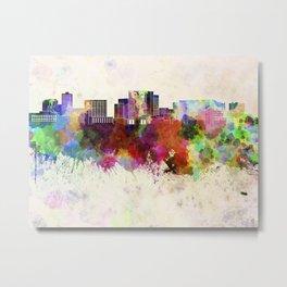 Cambridge MA skyline in watercolor background Metal Print
