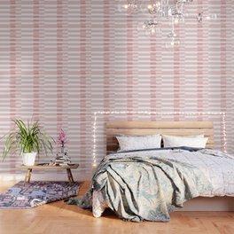 Big Stripes in Pink Wallpaper