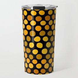 Honeycomb Ombre Dots Pattern Travel Mug