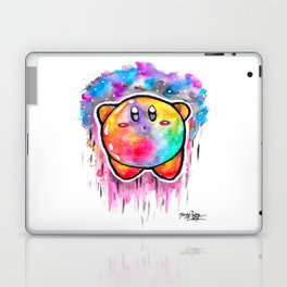 Cute Galaxy KIRBY - Watercolor Painting - Nintendo Laptop & iPad Skin